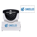 Picture of Accu Stamp® 2 One Color Stock Stamps Cancelled