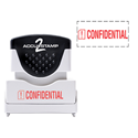Picture of Accu Stamp® 2 One Color Stock Stamps Confidential