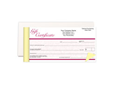 "Picture of Gift Certificate Book, 7"" x 3-5/8"", 2-part"