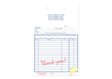 """Picture of Sales Form with Thank You in Red Form,  5-3/8"""" x 8-1/2"""", 2-part"""