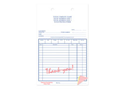 "Picture of Sales Form with Thank You in Red Form, 5-3/8"" x 8-1/2"", 3-part"