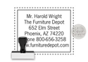 Picture of Traditional Rubber Stamp RF135